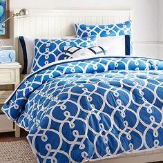 Totally Trellis Comforter + Sham, Palace Blue #pbteen