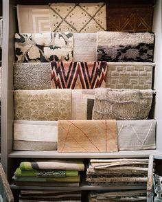 Retail Store Design - Rug samples at Harbinger
