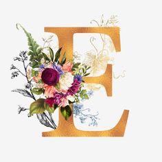 Floral Gold Alphabet - My Website 2020 Monogram Wallpaper, Alphabet Wallpaper, Alphabet A, Floral Letters, Gold Background, Romantic Roses, Sale Banner, Floral Wedding, Gold Wedding