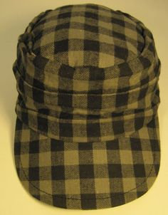Converse Hat One Size Fits All Black Gray check Pattern 100% Cotton #Converse #BaseballCap