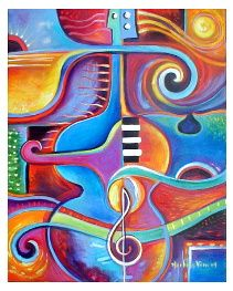 """cubist9  --  Sound of Music 20"""" x 16"""" Acrylic on stretched canvas"""