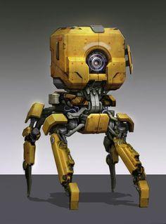 sam brown: Old robot edits Arte Robot, Robot Art, Character Concept, Character Design, 3d Character, Yellow Guy, Science Fiction, Cool Robots, Robot Concept Art
