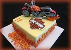 Motorcycle cake for my grandson