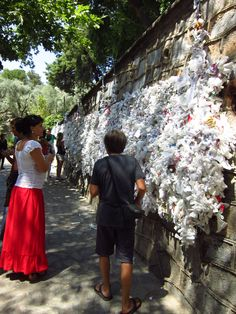 Prayer requests at the Virgin Mary's home site in Kusadasi, Turkey