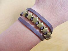 Jewelry bangle leather bracelet men bracelet by braceletbanglecase, $5.98