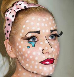 Halloween Pop Art make-up, the how-to - Telegraph Mehr