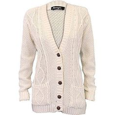 Ladies Cardigans Womens Knitted Jumper Cable Jacquared Boyfriend... ❤ liked on Polyvore featuring tops, cardigans, pink cardigan, cable knit boyfriend cardigan, boyfriend cardigan, pink top and boyfriend tank top