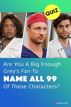 Do you think you can name almost every Grey's Anatomy doctor just by one photo? Go ahead and take this quiz to find out! #greys #shondaland #greysLove #greysrandomQuiz #greysFan #greyscharacters #greysanatomycharacters #meredithgrey #shonda #GreysAnatomy #greysquiz #greysnostalgia #greysAnatomyTrivia Greys Anatomy Facts, Greys Anatomy Characters, Grey's Anatomy Doctors, Callie Torres, Arizona Robbins, Derek Shepherd, Cristina Yang, Meredith Grey, First Photo