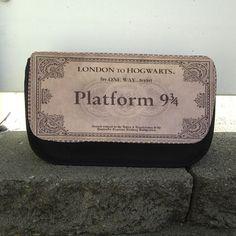Makeup / Pencil / Toiletries / Bag / Tote / Case for Travel organizer- Harry Potter 9 3/4 Hogwarts Platform ticket