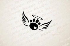 This rainbow bridge pet loss paw print with angel wings decal is perfect for any. - This rainbow bridge pet loss paw print with angel wings decal is perfect for any animal lover that - Sexy Tattoos, Cute Tattoos, Body Art Tattoos, Small Tattoos, Tattoos Skull, Tatoos, Diy Tattoo, Tattoo Life, Tattoo Fonts