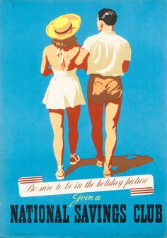Join a National Savings Club, Travel Poster
