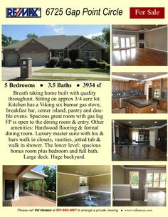 Breathtaking home built with quality throughout. Nicely nestled on approx. 5 Bedrooms and Baths. Lower level bonus room, bedroom and bath Gas Logs, Gas Stove, Little Rock, In Ground Pools, Ranch Style, Great Rooms, Baths, Acre, Kitchen Remodel