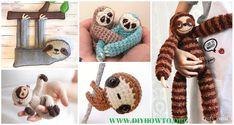 Amigurumi Crochet Sloth Toy Softies Patterns Free & Paid: crochet baby sloth, crochet finger sloth, cuddle size sloth, sloth amigurumi toys and blankets