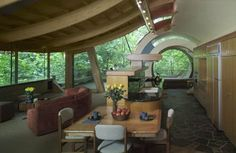 Inside view of Wilkinson Residence. I love the circular doorways.