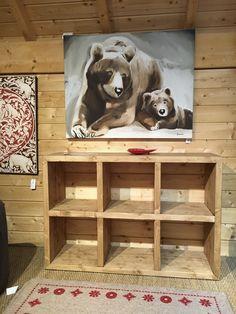 Un meuble cube original en sapin massif pour votre déco montagne ! Vertical, horizontal.. à vous de jouer pour votre rangement personnalisé :) #cube #sapinmassif #meublemontagne #decomontagne #lecoinmontagne