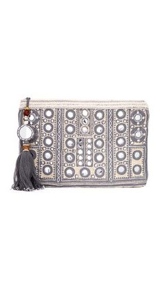 Star Mela Pinki Embroidered Clutch