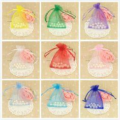 1 шт. 8.5 * 11.5 см органза сумки 8 цветов для выбора свадебного подарка украшения мешок конфеты сувенир венчания новогоднее украшение