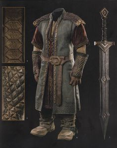 Fili's Erebor armor details and sword