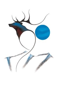 Art Print: Cariboo Spirit Art Print by Isaac Bignell by Isaac Bignell : Art Haïda, Art Mural, Native Art, Native American Art, Native Indian, American Indians, Devon, Inspiration Artistique, Haida Art
