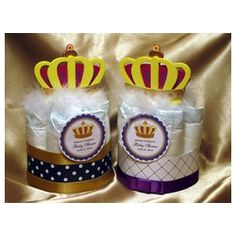 A wonderful gift for the new mom (or parents) at the hospital or perfect decorations for your Royal themed or Prince themed baby shower. They're the perfect size that can be placed on each guests table.