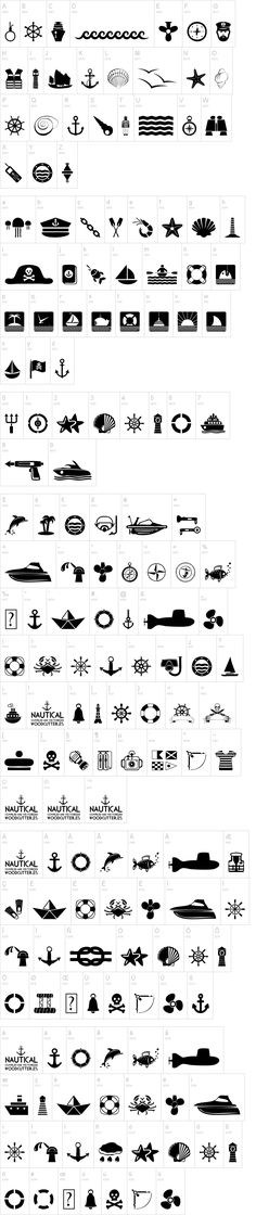 FREE digital Nautical font - saving for later Cool Fonts, New Fonts, Silhouette Projects, Silhouette Cameo, Nautical Fonts, Nautical Art, Free Dingbats, Dingbat Fonts, Best Free Fonts