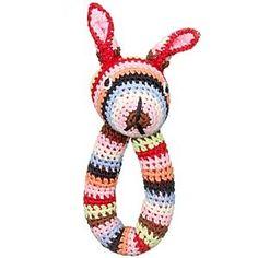 Cute crochet baby rattle.