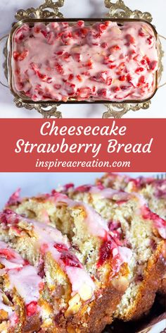 Jun 2019 - Are you looking for a recipe for Cheesecake Strawberry Bread? This bread has yummy cream cheese inside the bread mix as well as in the frosting. Strawberry Cheesecake, Strawberry Desserts, Strawberry Breakfast, Strawberry Bread Recipes, Strawberry Banana Bread, Homemade Cheesecake, Cheesecake Recipes, Breakfast Dessert, Breakfast Recipes