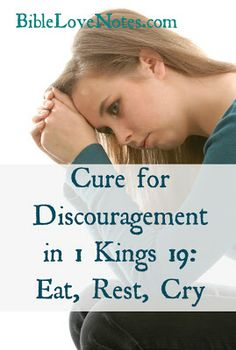 When we're discouraged, we can take tips from 1 Kings 19 where God comforted Elijah.