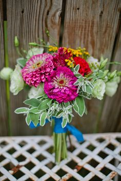 zinnia bouquet by jmflora design, marvelous things photography