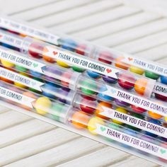 Gumball Tube - Rainbow for $2.99 from The TomKat Studio Party Shop