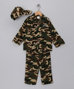 Take a look at this Army Outfit - Toddler & Kids by Dress Up America on #zulily today!