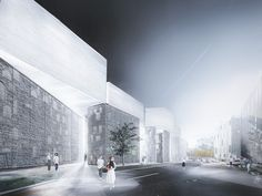 Latvian Museum of Contemporary Art Reveals Shortlisted Designs,wHY (US), OUTOFBOX Architecture and ALPS. Image © Malcolm Reading Consultants