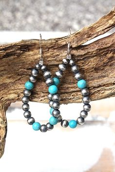 Perfect Navajo Pearl & Turquoise Earrings! 2 colors! http://www.cowgirlkim.com/perfect-navajo-pearl-turquoise-earrings-2-colors.html