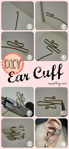 How To Make Beautiful Ear Cuff. I used to wear these!