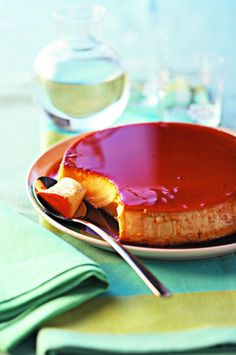 crème caramel No Sugar Foods, French Food, Food To Make, Panna Cotta, Cheesecake, Deserts, Food And Drink, Sweets, Baking