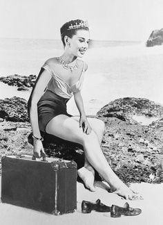 A rare photo of Audrey Hepburn