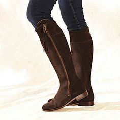Suede Spanish Riding Boots - gifts for her