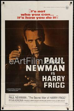 The Secret War of Harry Frigg, director Jack Smight's World War II military crime comedy starring Paul Newman-Tom Bosley-Sylvia Koscina-Andrew Duggan-James Gregory-Werner Peters. This originally folde