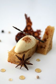seven spice ice cream with yogurt and brown sugar cake by cannelle-vanille, via Flickr