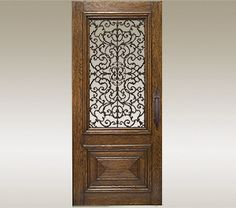 Beautiful door with wrought iron