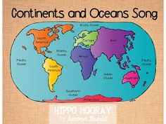 Hippo Hooray for Second Grade: Continents and Oceans Song ~ Great way to help the kiddos remember continents and oceans! 3rd Grade Social Studies, Social Studies Activities, Teaching Social Studies, Student Teaching, Teaching Science, Social Science, Citizenship Activities, Teaching Tips, Oceans Song