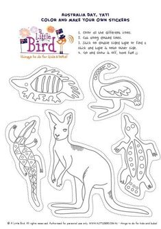 Image result for kids australia printables