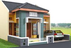 70 Examples of Simple House Models that Look Luxurious and Modern - House Designs Bungalow Haus Design, Bungalow House Plans, Minimalist House Design, Minimalist Home, Small House Exteriors, Independent House, House Elevation, Front Elevation, House Windows