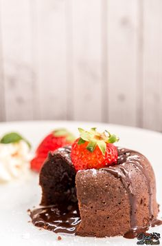 Fudgy, gooey Molten Chocolate Lava Cake for 2 is the ultimate decadent dessert!