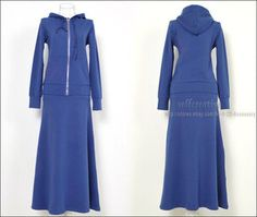 Long Skirt Church Suits | Womens Cotton Comfy Soft Suit Hoodie Sweat Long Skirt Set Tracksuit ...