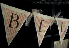 Under The Table and Dreaming: No Sew Fabric & Felt Transfer Christmas Pennant Banner {believe}