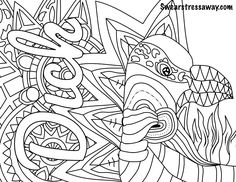 AButt Swear Word Coloring Book Pages Curse Adult Page