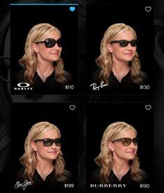 Eyewear shopping app turns your headshot into image Eyewear Shop, Augmented Reality, Eyeglasses, Ipad 4, Iphone App, Model, 2d, Shopping, Image
