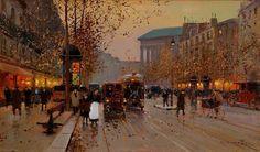 Boulevard de la Madeleine, Paris, by Edouard Leon Cortes, 1925