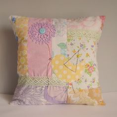 Roxy Creations: Vintage fabric Patchwork cushions